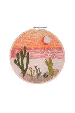 Okhai 'Wanderlust' Hand Embroidered Hoops-26