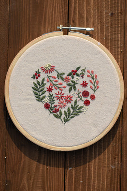Okhai 'Joy' Hand Embroidered Pure Cotton Hoop