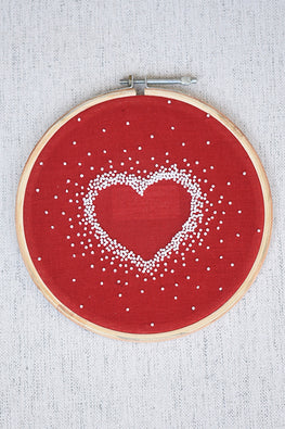 Okhai 'Romance' Hand Embroidered Pure Cotton Hoop