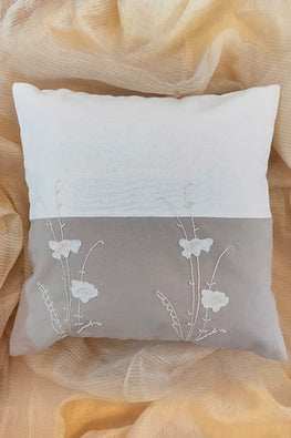 Whebyabira-Handembroidered dual color cushion cover
