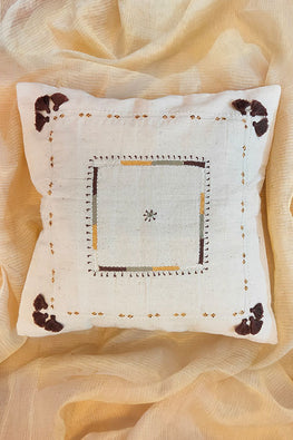 Whebyabira-Handspun Handwoven Handembroidered cushion cover