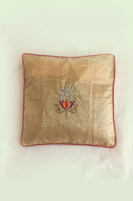 Whebyabira-Handembroidered Kota festive cushion cover