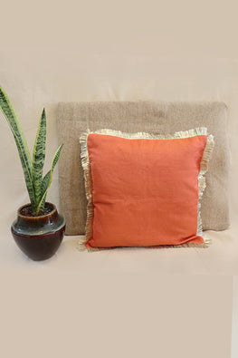 Whebyabira-Handmade Solid Blue Kota festive cushion cover