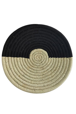 10' Natural and Black Handmade Wall Decor of Sabai Grass