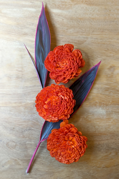 Okhai Handcrafted Marigold Sola Wood Flowers Online