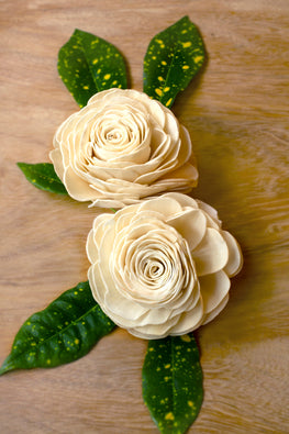 Okhai Handcrafted White Rose Sola Wood Flowers Online