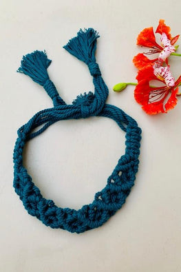 Macramé Headband - Forest Green