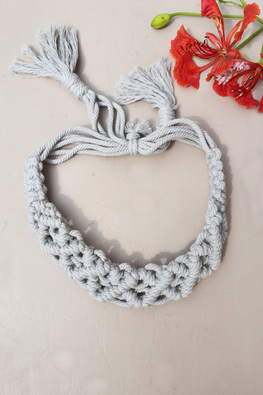 Macramé Headband - Grey