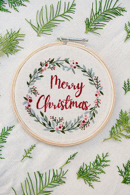 Okhai 'Noel' Hand Embroidered Hoop