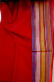 `The Handloom Tree' Kutchi Extra Weft Weaving Cotton Saree Colour - Red-9