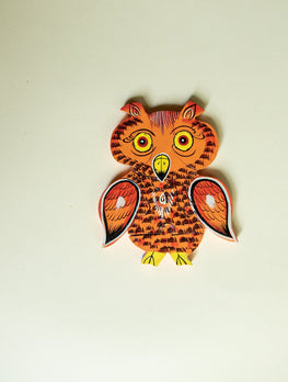 Handcrafted Wooden Jigsaw Puzzle - Owl - The India Craft House