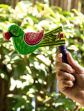 Handcrafted Wooden Kit Kat Sound Toy - Twirling Parrot - The India Craft House