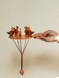 Handcrafted Wooden Moving Toy - Birds Feeding (Large) - The India Craft House