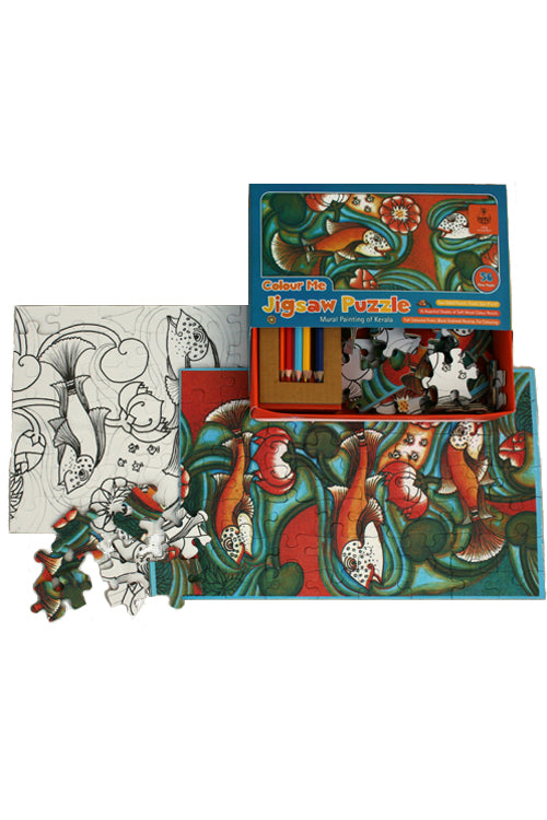 DIY Jigsaw Colouring Kit - Kerala Mural Painting