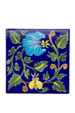 Blue Pottery Handcrafted Tile-92
