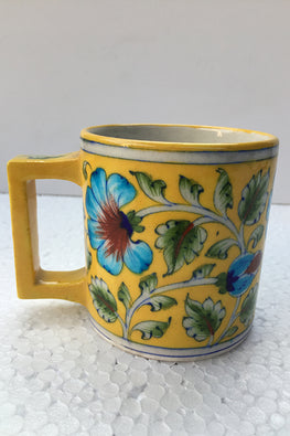 Blue Pottery Handcrafted Coffee Mug-119