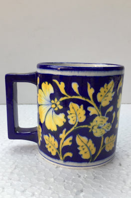 Blue Pottery Handcrafted Coffee Mug-117