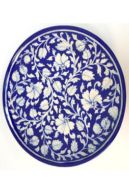 Blue Pottery Handcrafted Plate-95