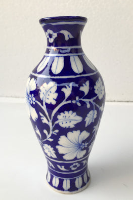 Blue Pottery Handcrafted Saras Flower Pot-121