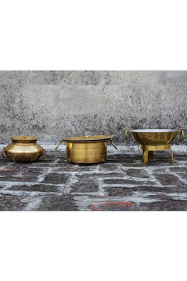 P-TAL Thathiar Hand Hammered Brass Kadai For Cooking Online