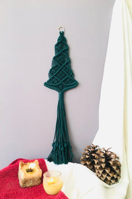 Handcrafted Christmas Tree Macrame Wall Hanging Online