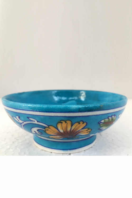 Ram Gopal Blue Pottery Handcrafted 'Bowls' Light Blue serving bowls