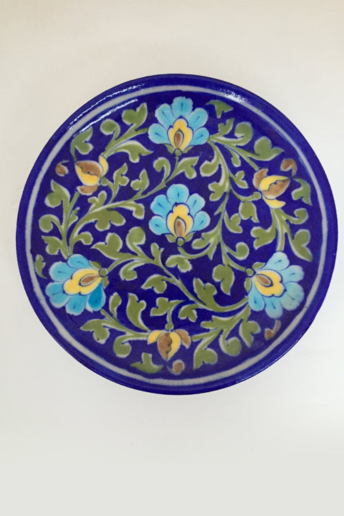 Ram Gopal Blue Pottery Handcrafted 'Pate ' Blue Wall Hanging-6