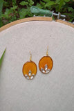 Whebyabira-Yellow Oval Enamel Drop