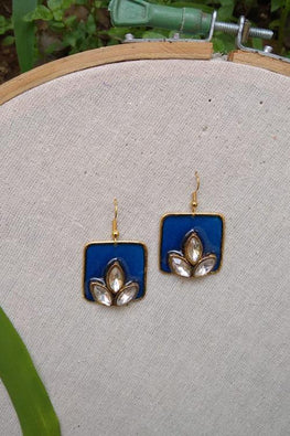 Whebyabira-Royal Blue Square Enamel Drop
