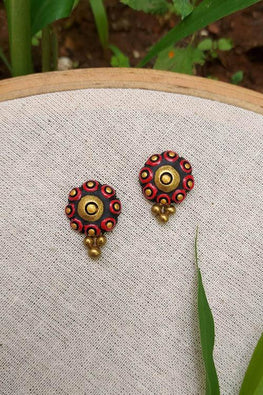 Whebyabira-Red Clay Flower Stud