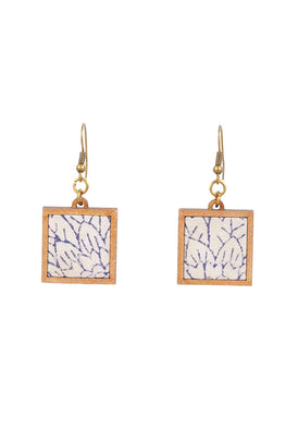 Whebyabira Handblock Printted Fabric And MDF Earrings