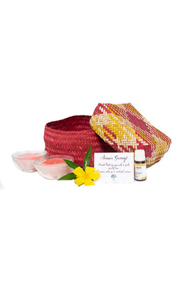 Kadam Haat Good Night Sleep Set (Red and Yellow)