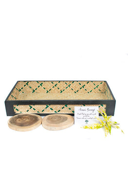 Kadam Haat Table Organizer Set (Natural and Black)