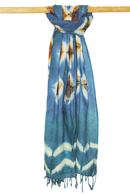 Creative Bee 'KIWAD' Natural Dye Shibori Cotton Stole