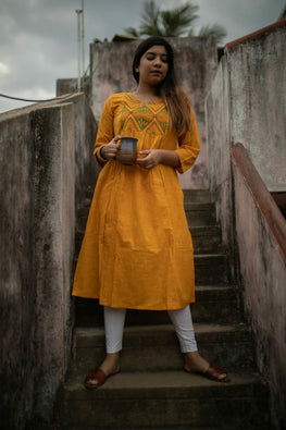 Yellow Nomad Kurta -1