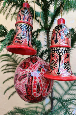 Kashmiri Art Xmas Decorations - Set of 3
