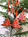 Kashmiri Art Xmas Decorations - Set of 4