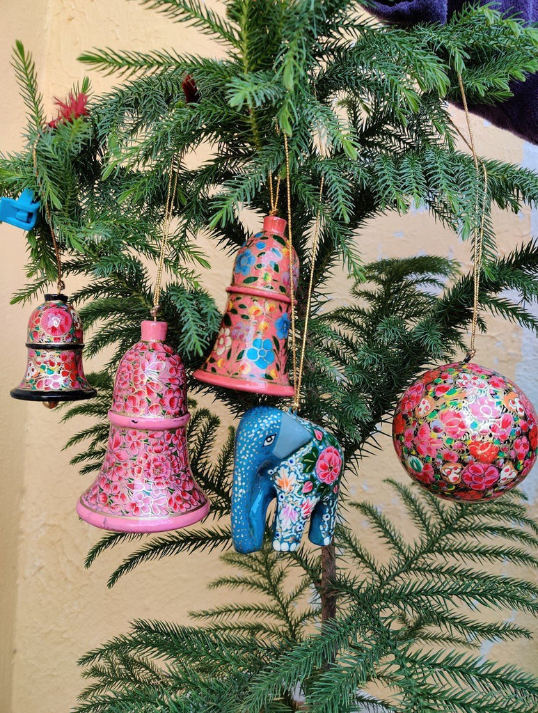 Kashmiri Art Xmas Decorations - Set of 5