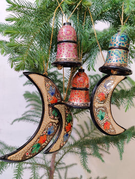 Kashmiri Art Xmas Decorations - Set of 6