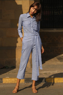 Okhai 'Pinstripe' Pure Cotton Boiler Suit