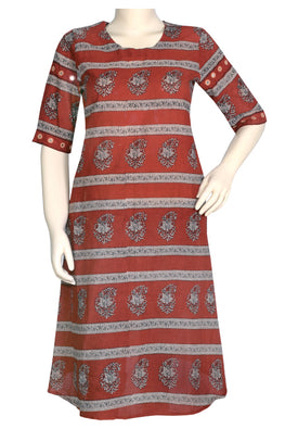 "Okhai ""Spring Fern"" Block Printed Dress"