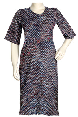 "Okhai ""Ink Stripes"" Mirror Work Dress"