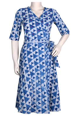 "Okhai ""Ocean Drift"" Mirror Work Wrap Dress"