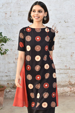 "Okhai ""Auspicious Amber"" Embroidery Work Dress"