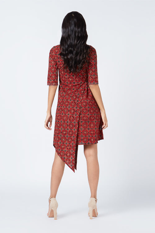 Okhai 'Audrey' Ajrakh Embroidered Cotton Dress