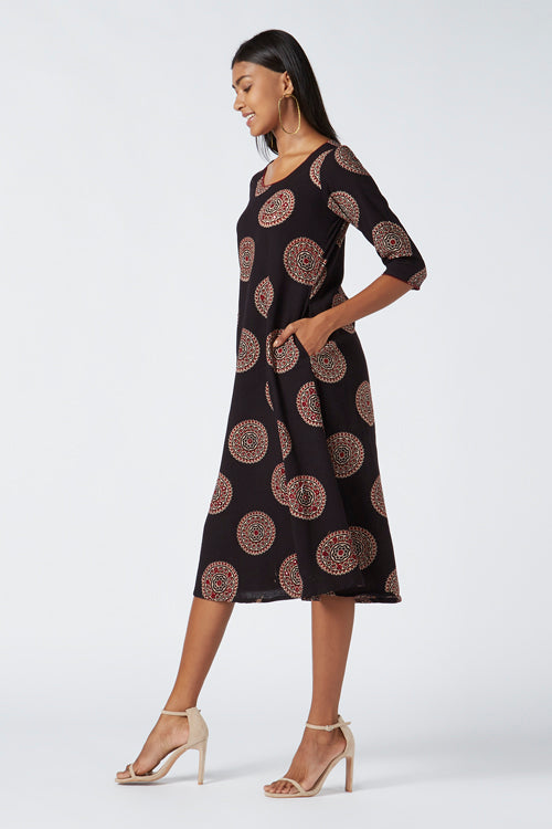 Okhai 'Reiki' Cotton Hand Block Print Dress
