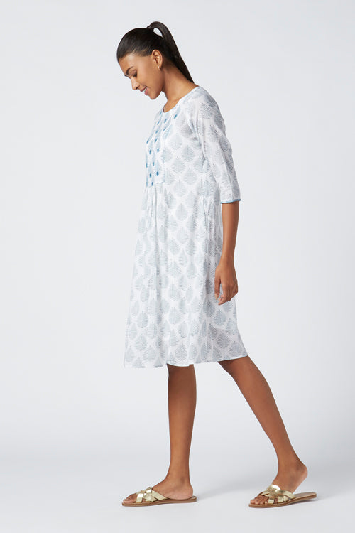 Okhai 'Lyra' Embroidered Cotton Cambric Dress