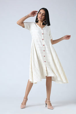 Okhai 'Prism' Jute Silk Slub Dress