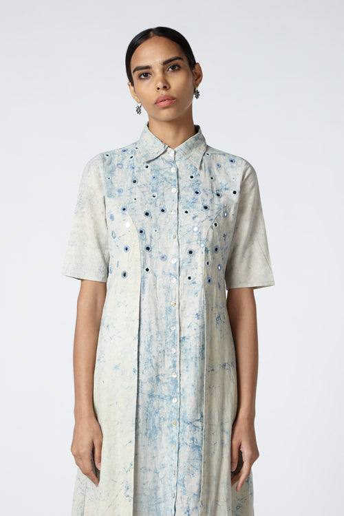 Okhai 'Goal' Tie Dye Cotton Dress