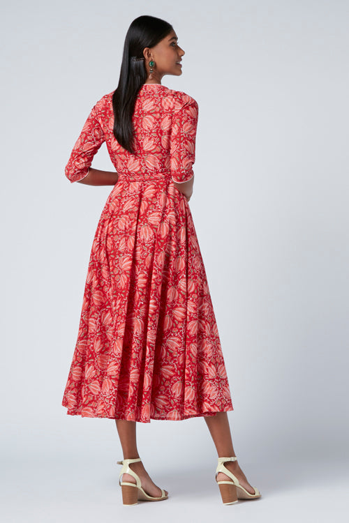 Okhai 'Aphrodite' Cotton Block Print Dress